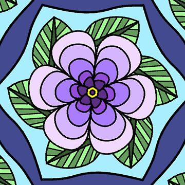 Purple Peony by Dees-Designs