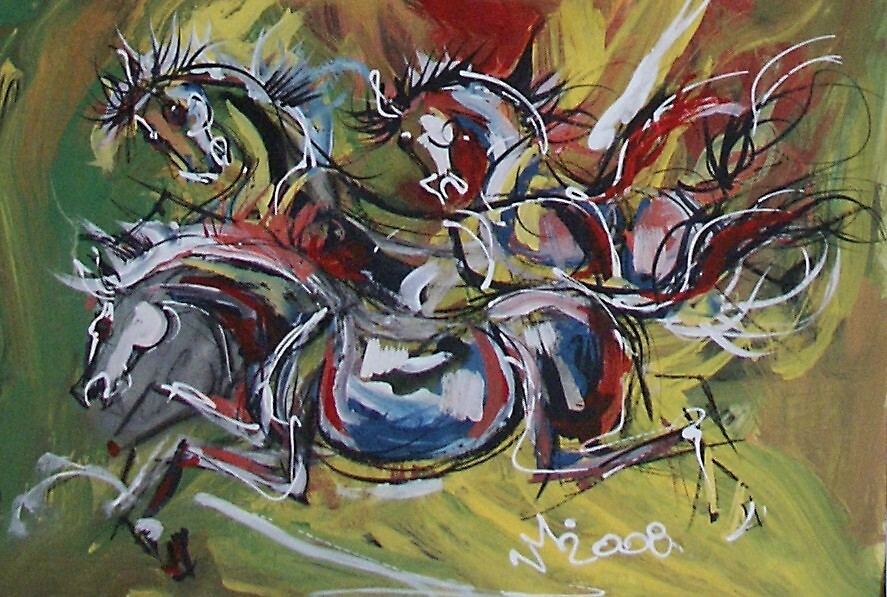 horses in moving by mvas