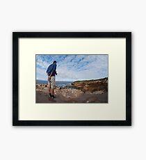 Photgrapher In Action Framed Print