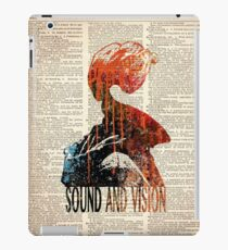 SOUND AND VISION #on dictionary page iPad Case/Skin