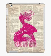 SOUND AND VISION #pink, on dictionary page iPad Case/Skin