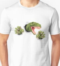 T Rex Dinosaur Claws Tearing Unisex T-Shirt