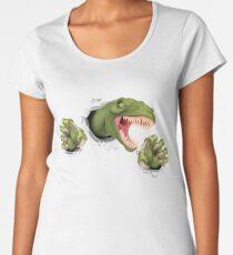 T Rex Dinosaur Claws Tearing Women's Premium T-Shirt