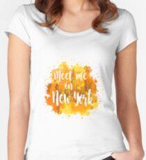 Meet me in New York Camiseta entallada de cuello redondo