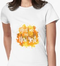 Meet me in New York Women's Fitted T-Shirt