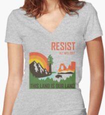 Support ALT NPS Women's Fitted V-Neck T-Shirt