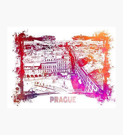 Prague skyline panorame Photographic Print