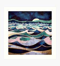 Mondlicht Ozean Kunstdruck