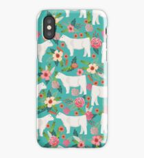 Charolais cattle farm must have gifts homesteader cow breeds florals iPhone Case/Skin