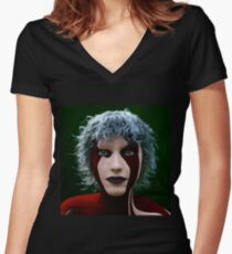 Iridescent  Women's Fitted V-Neck T-Shirt