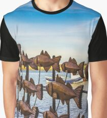 Fish art going with the flow Graphic T-Shirt