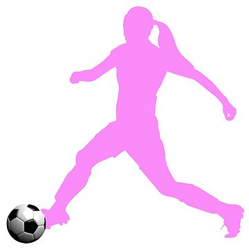 Female Soccer Player Pink Collection by NorthernSoulz