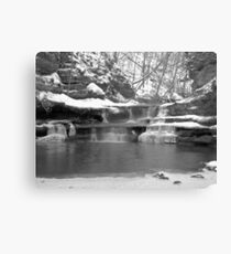 Frozen Nature Series - Bitter Falls Canvas Print