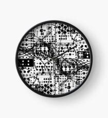 analog synthesizer modular system - black and white illustration Clock