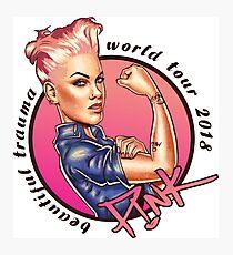 Pink Beautiful Trauma World Tour 2018 Photographic Print