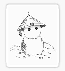 Cute Asian Snowman- White version  Sticker