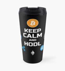 Keep Calm And HODL Travel Mug