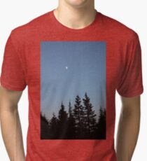 Night sky over North Vancouver Tri-blend T-Shirt