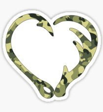 Love Hunting Camo Green Sticker