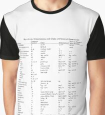 Symbols, Dimensions, and Units of Physical Quantities #Symbols #Dimensions #Units #Physical #Quantities #PhysicalQuantities #Symbol #Dimension #Unit #Quantity #PhysicalQuantity #Physics #dimension #SI Graphic T-Shirt