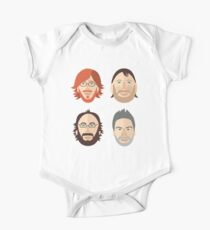 Trey, Fish, Mike, Page as Vector Characters Baby Body Kurzarm