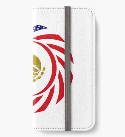 Mexican American Multinational Patriot Flag Series iPhone Wallet