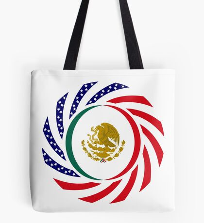 Mexican American Multinational Patriot Flag Series Tote Bag
