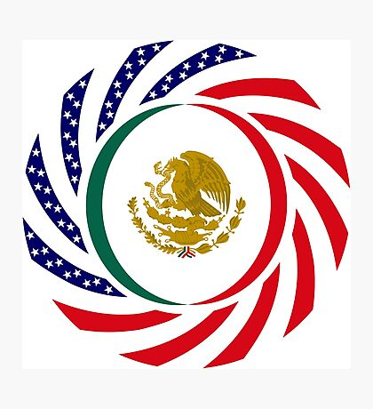 Mexican American Multinational Patriot Flag Series Photographic Print