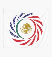 Mexican American Multinational Patriot Flag Series 1.0 Wall Tapestry