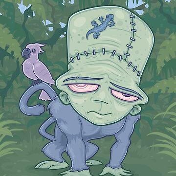 Frunkee - Frankenstein Monkey Creature by fizzgig