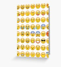 All Faces Emoji Collage Greeting Card