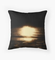Moonlight and Sand Bars Throw Pillow