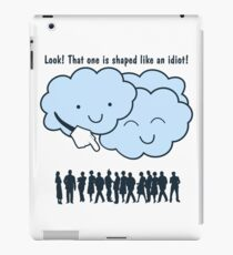 Cloud Mocks Human Shapes Funny Cartoon iPad Case/Skin