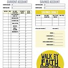 Monthly Budget Planner - Walk By Faith by Tangldltd