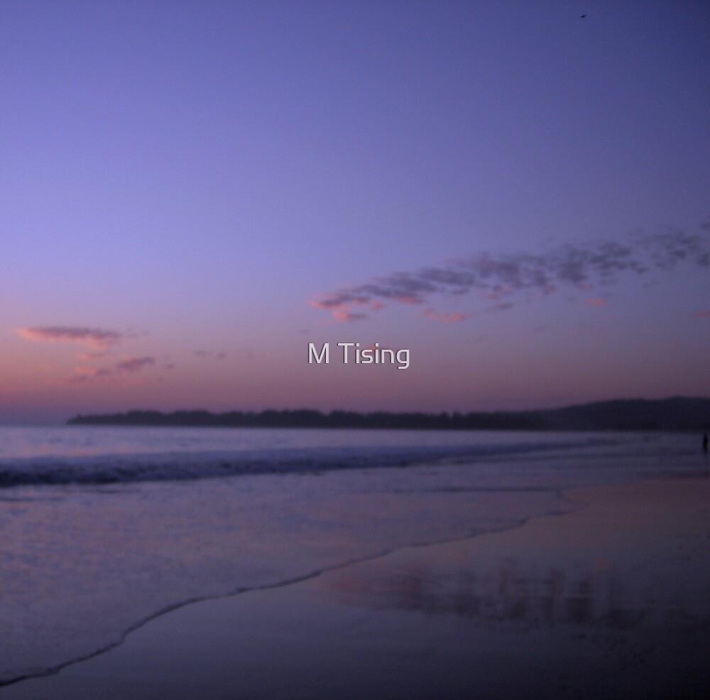 Stinson Beach at dusk by M Tising