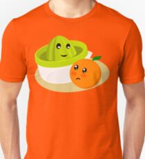 Orange Juice. Cute Juicer and Orange (II) Unisex T-Shirt