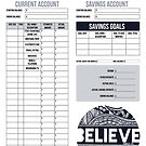 Monthly Budget Planner - Believe by Tangldltd