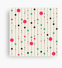 Lines pink white black Style Canvas Print