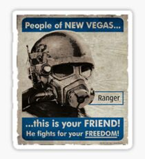 He Fights For Your Freedom! - NCR Sticker