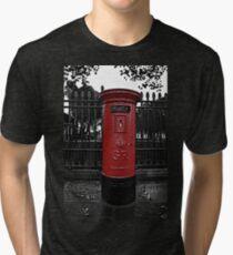 Red London Pillar Box Tri-blend T-Shirt