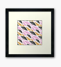 Graphic Waves Framed Print