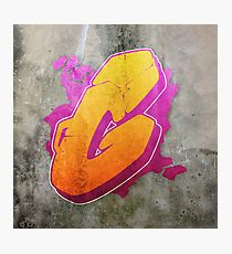 G - Orange graffiti letter Photographic Print