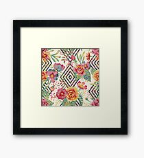 Flower Graphic  Framed Print