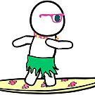 Cartoon Surfer by ShellyG14