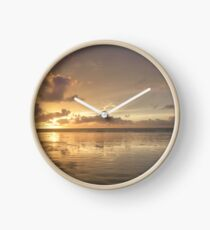 Cable Beach Sunset Refection  Clock