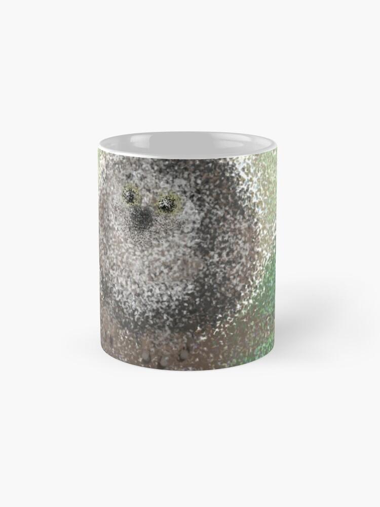 Pseudopointilist Owl | Mugs