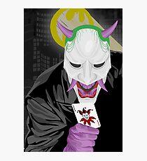 Joker Oni Mask Batsignal Gotham Photographic Print