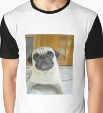 pug fawn laying Graphic T-Shirt