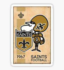 Retro New Orleans Saints Sticker