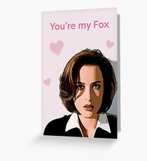 Scully Valentine Card Greeting Card